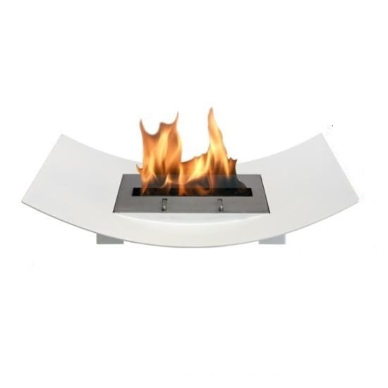 Veniz Bio Ethanol Fuel Fireplace Finish: White - Clear