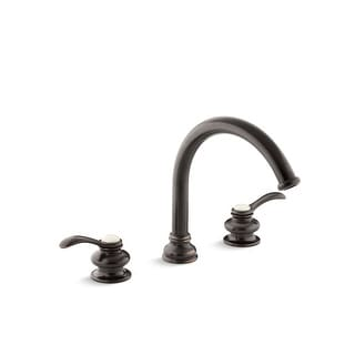 "Link to Kohler Fairfax® Deck-Mount Bath Faucet Trim, Traditional 8-7/8"" Non-Diverter Slip-Fit Spout, Valve Not Included (K-T12885-4-2BZ) Similar Items in Faucets"