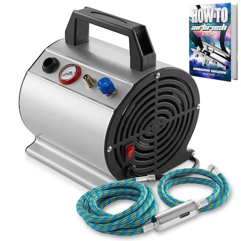 1/6 HP Airbrush Compressor w/ Internal Tank and 6 Ft. Hose