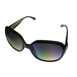 Ellen Tracy Sunglass 513 1 Womens Black Square Plastic, Smoke Gradient Lens