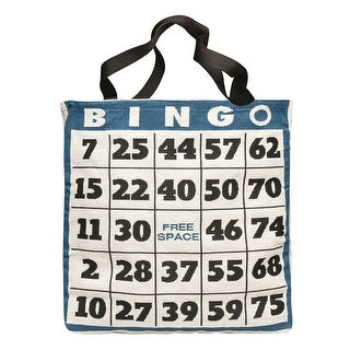 "Women's Bingo Sheet Bag - Reusable Tote With Handles - 16"" X 15"" X 2"""
