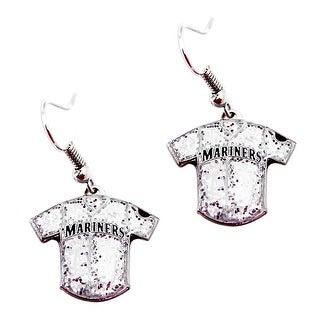 MLB Seattle Mariners  Glitter Jersey Dangle Earring Set Charm Gift
