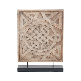 "GuildMaster 2516538  20"" Tall Wood Celtic Knot Statue - Natural"
