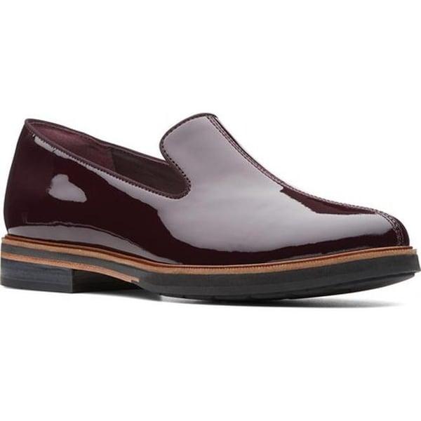 5c771b2d6f Shop Clarks Women's Frida Loafer Aubergine Patent Leather - Free ...