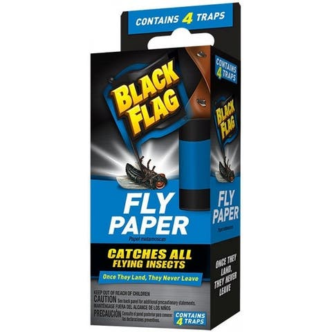 Black Flag HG-11016 Fly Paper Insect Trap, 4 Count
