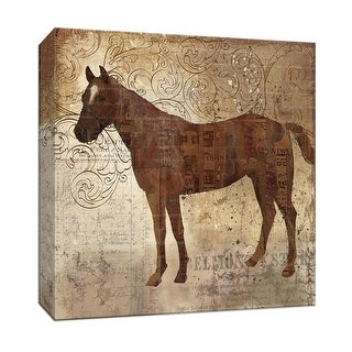 """PTM Images 9-146975  PTM Canvas Collection 12"""" x 12"""" - """"Western Horse II"""" Giclee Horses Art Print on Canvas"""