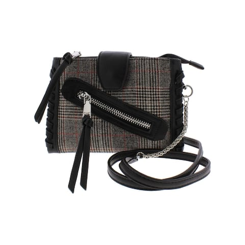 BCBGeneration Womens Aubry Crossbody Handbag Wool Organizational - Small