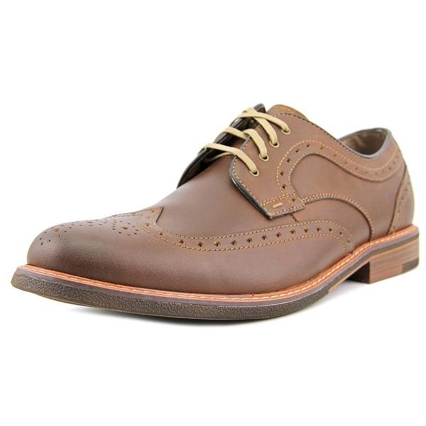 Dockers Yaleton Men Wingtip Toe Leather Tan Oxford