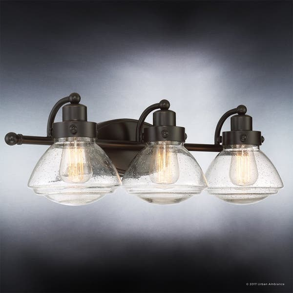 Luxury Transitional Bathroom Vanity Light 8 H X 25 W With Rustic Style Parisian Bronze Finish 25 Overstock 19478263