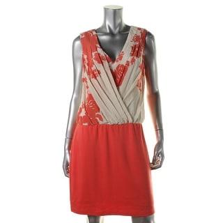 Bailey 44 Womens Silk Surplice Cocktail Dress