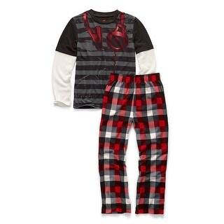 Hanes Boys' Sleepwear 2-Piece Set, Headphones Print - Size - 8/9 - Color - Headphones