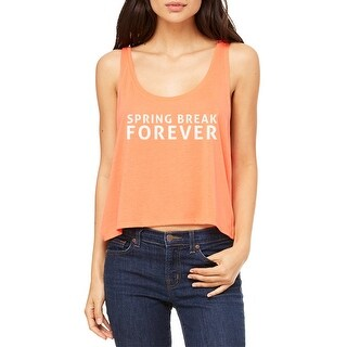 Spring Break Forever Beach Party Women's Coral Flowy Boxy Tank