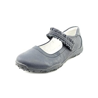 Nina Kids Runalong Round Toe Leather Mary Janes