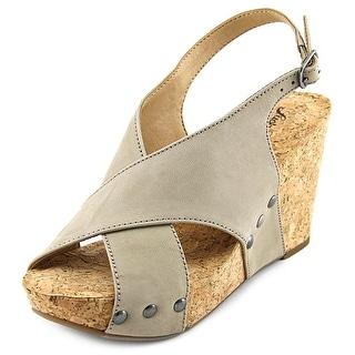 Lucky Brand Minari Open Toe Leather Wedge Heel