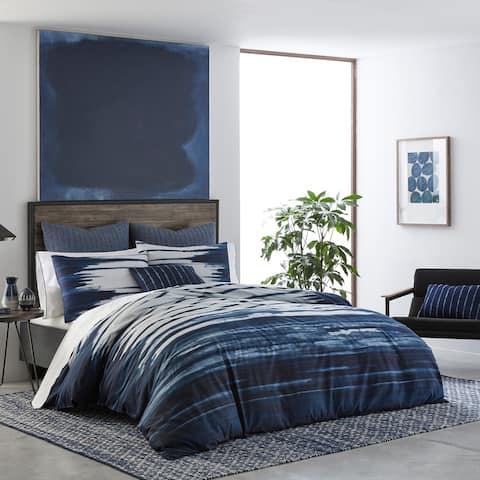 IZI Shibori Print Navy Cotton Comforter Set