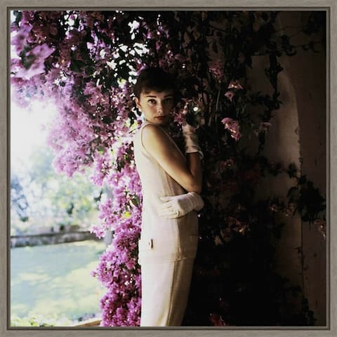 Audrey Hepburn by Hollywood Photo Archive Framed Canvas Art
