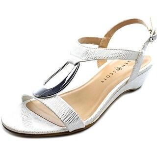 Karen Scott Carmeyy Women Open Toe Synthetic White Wedge Sandal