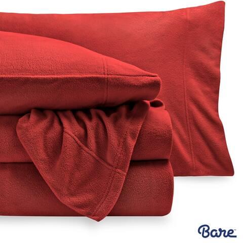 Bare Home Polar Fleece Sheet Set - Extra Plush & Breathable Sheets