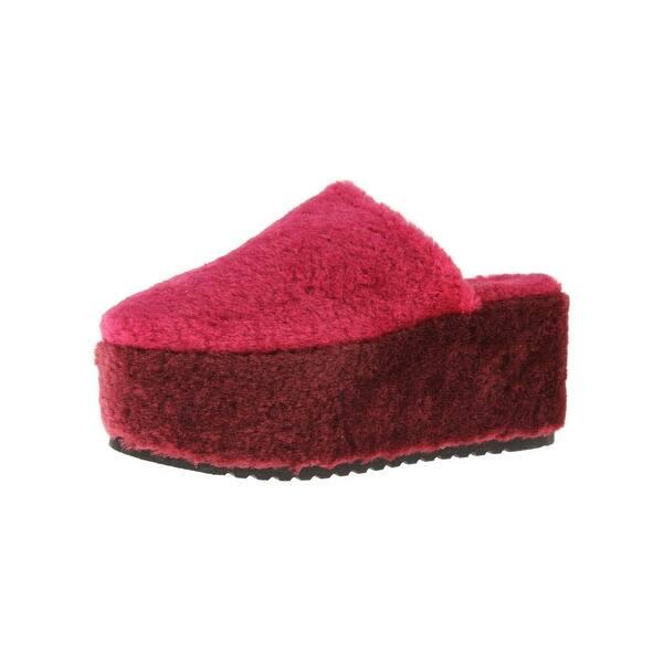 a790410d149 Shop Steve Madden Womens Festival Clogs Faux Fur Colorblock - Free ...
