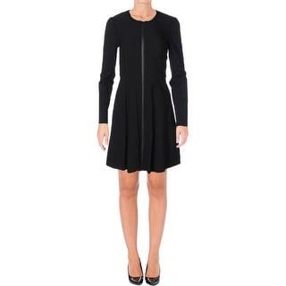 Finity Womens Casual Dress Ponte Stretch