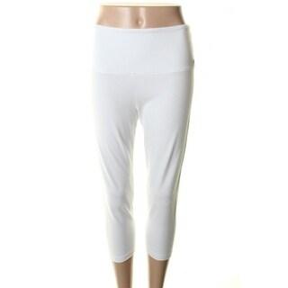 Lisse Leggings Womens Flat Front Elastic Waist Leggings - M