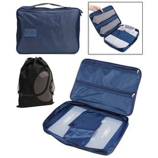 JAVOedge Double Zipper Mesh Suit, Shirt, and Tie Travel Storage Organizer Case with Handle and Bonus Drawstring Bag