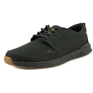 Reef Rover Low Men  Round Toe Canvas Black Sneakers