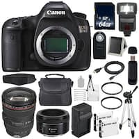 Canon EOS 5DS DSLR Camera (International Model) (0581C002) + Canon EF 24-105mm f/4L IS USM Lens Bundle