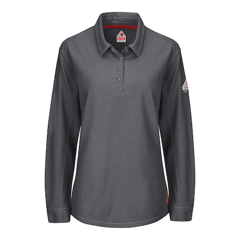 iQ Series® Women's Long Sleeve Polo with 4-Button Placket