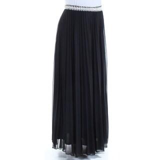 SPEECHLESS Womens New 1160 Black Beaded Knife Pleated Skirt 13 Juniors B+B