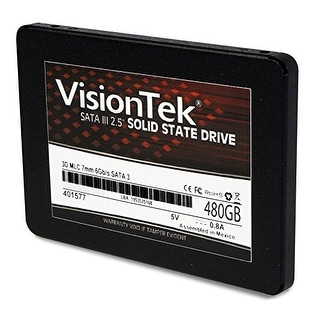 "Visiontek Products 900980 Visiontek 480Gb 3D Mlc 7Mm 2.5"" Solid State Drive 550 Mb/S Read 435 Mb/S Write"