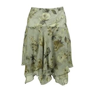 Ralph Lauren Women's Floral Print Skirt