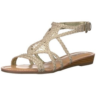 Carlos by Carlos Santana Womens turner Fabric Open Toe Casual Strappy Sandals