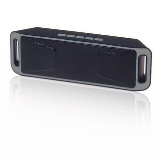 Indigi® Great Gift! Bluetooth 4.0 Portable Wireless Dual Speaker TF USB FM Radio (Grey)