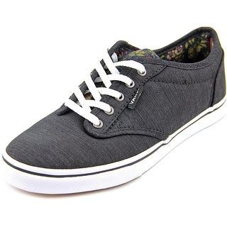 Vans Atwood Low Women Round Toe Canvas Black Skate Shoe