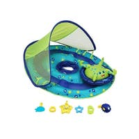 "36"" Inflatable Blue and Green Octopus Baby Swimming Pool Float with Canopy - N/A"