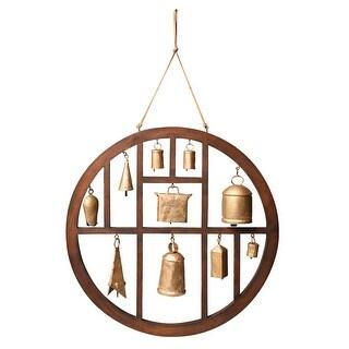 Circle of Bells Indoor/Outdoor Wind Chime Garden Outdoor Decor - 18  in.