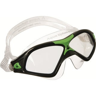 Aqua Sphere Seal XP2 Clear Lens Swim Mask - Black/Green