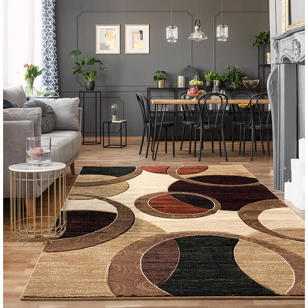 Orelsi Collection Abstract Area Rug. Opens flyout.