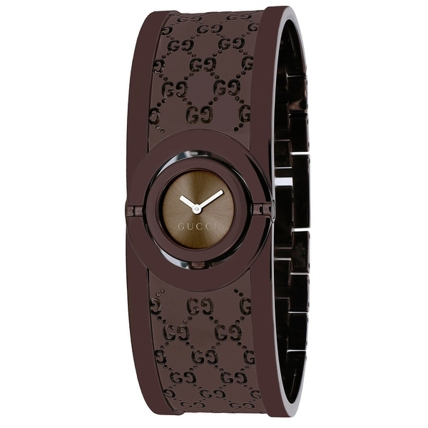 0d793958275 Shop Gucci Women s Twirl YA112532 Brown Dial watch - Free Shipping Today -  Overstock - 24225431
