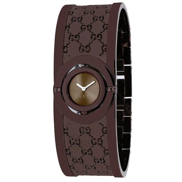 0c2e0ea97d9 Shop Gucci Women s Twirl YA112532 Brown Dial watch - Free Shipping Today -  Overstock - 24225431
