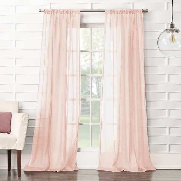 No. 918 Ladonna Crushed Texture Semi-Sheer Rod Pocket Curtain Panel. Opens flyout.