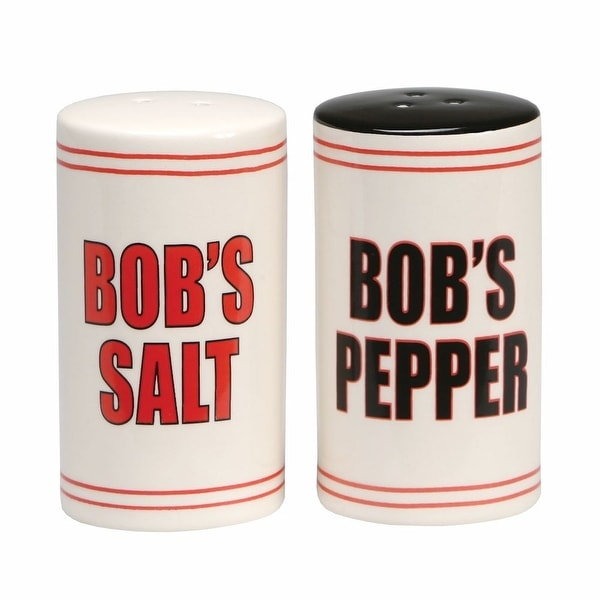 Bob's Ceramic Salt and Pepper Shaker Set