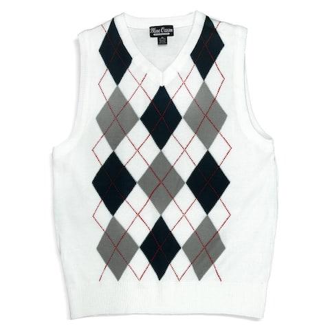 Boys Argyle Sweater Vest (SV-255 BOYS)