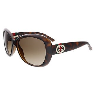 Gucci GG3644/S DWJ Havana Oval Gucci Sunglasses