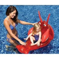 Water Sports Inflatable Red Lobster Child Swimming Pool Lounge Seat - Black