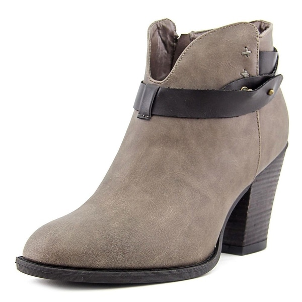 XOXO Karol Women Round Toe Synthetic Ankle Boot