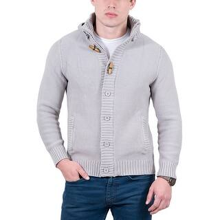 Cashmere Company Light Grey Waffle Knit Hooded Cardigan|https://ak1.ostkcdn.com/images/products/is/images/direct/48b848fe5af335a83b7bd308d54d4bd50471728c/Cashmere-Company-Light-Grey-Waffle-Knit-Hooded-Cardigan.jpg?impolicy=medium