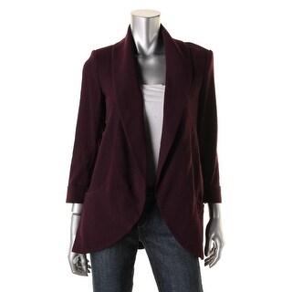 Calvin Klein Womens Cuff Sleeves Open Front Blazer