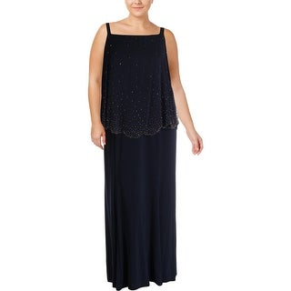 Xscape Womens Plus Evening Dress Sleeveless Full-Length